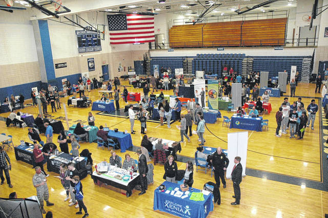 Scott Halasz | Greene County News Xenia High School hosted the 2019 Xenia Job Fair March 13. More than 60 employers were in attendance looking to hire folks of all ages.