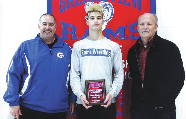Devan Hendricks was chosen as the Edward Jones Investments Athlete of the Month for January for Greeneview High School. This award is being sponsored by the office of Mike Reed at Edward Jones Investments of Xenia, serving Xenia, Jamestown, Cedarville and surrounding areas. Hendricks is a senior wrestler who recently won a Division III Sectionals title and placed third at the District tournament in the 145-pound weight category, to qualify for his third consecutive state tournament. His record is 46-6 this season entering the state tournament. Hendricks is an excellent student with a grade-point average of 3.5.