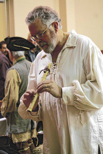Anna Bolton | Greene County News Greene County residents find more than 60 tradesmen from all over the country selling Native American flutes, handmade brooms, firearms, pottery and more at the Old Town Trade Faire March 2 at the fairgrounds.