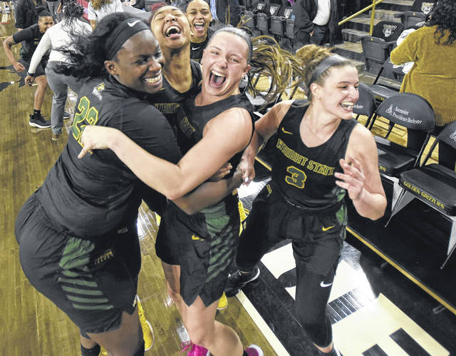 Photo courtesy of WSU The Wright State University women's basketball team sealed its first-ever outright regular season.