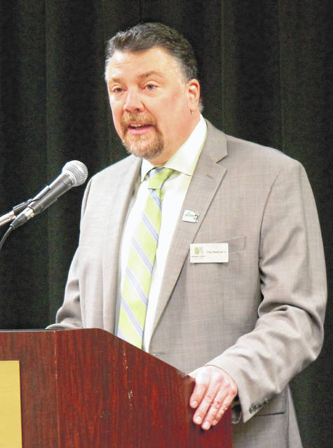 Anna Bolton | Greene County News Department of Development Director Paul Newman Jr. speaks to county officials April 26 at the Annual Report to the Community.