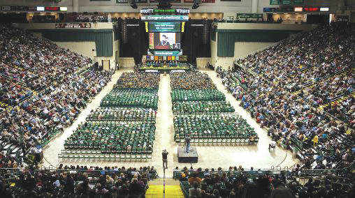 The spring class of 2019 includes 2,082 graduates. Wright State will award 22 associate degrees, 1,457 bachelor's degrees, 592 master's and 32 doctoral degrees.