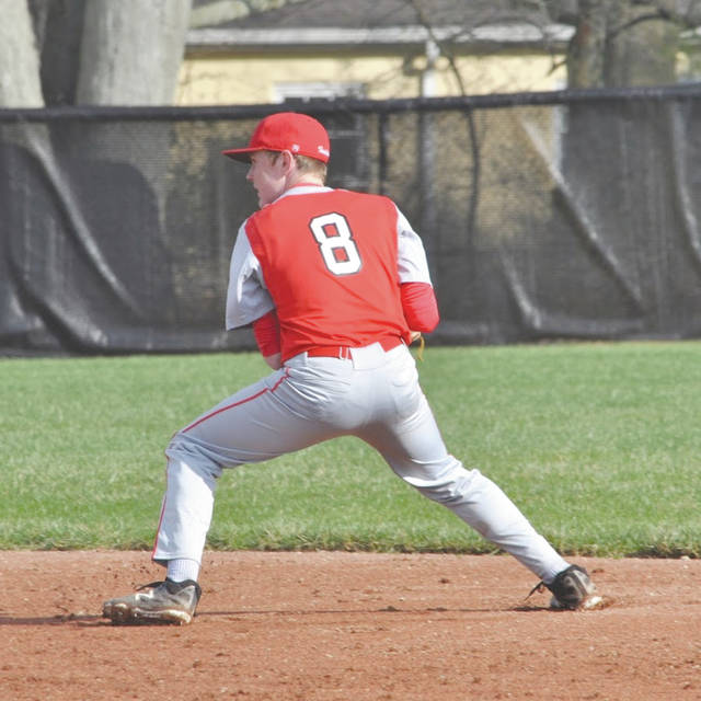 Cedarville sophomore Caleb McKinion currently leads the race for the Greene County area batting title, sponsored by the Xenia Pizza Hut, with a .542 average.