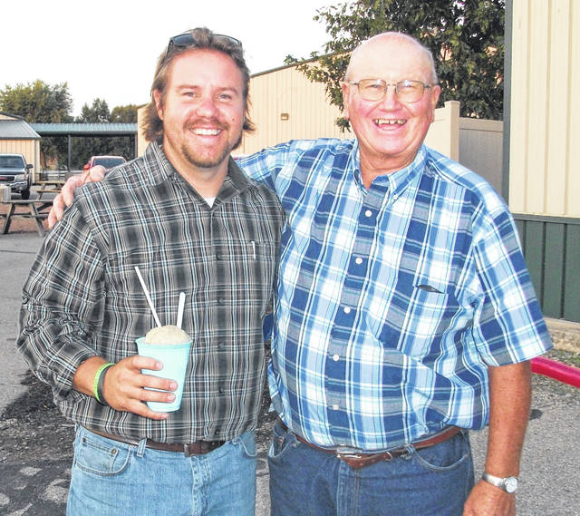 Adam Garman, pictured with Farm Forum member Ron Johannes, will speak at the Greene County Farm Forum's annual picnic/scholarship fundraiser on June 22.
