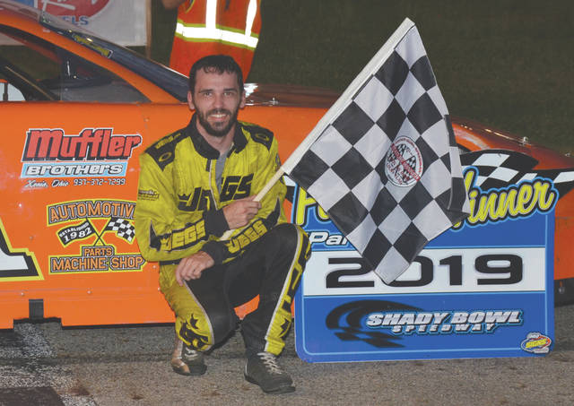 Ryan Fleming, of Cedarville, won the Dave Nagel Excavating Late Models feature race July 6 at Shady Bowl Speedway in DeGraff, Ohio.