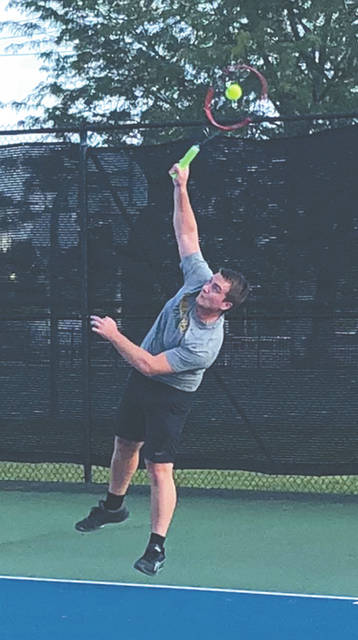 Former Wright State University player Aaron Madaris won the Fairborn A Singles title.