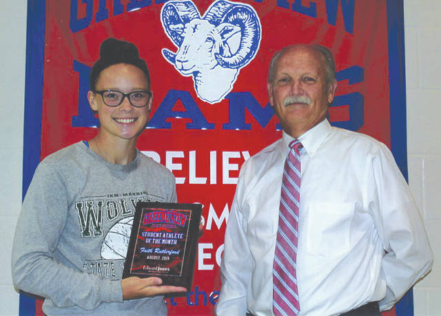 Faith Rutherford was chosen as the Edward Jones Investments Athlete of the Month for August for Greeneview High School. This award is being sponsored by the office of Mike Reed at Edward Jones Investments of Xenia, serving Xenia, Jamestown, Cedarville and surrounding areas. Rutherford, a senior, plays on the girl's soccer team. So far this season she has 20 goals and three assists. With a grade-point average of 3.416, Rutherford is an excellent representative of Jamestown athletics.