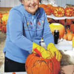 Community carves for Pumpkin Glow