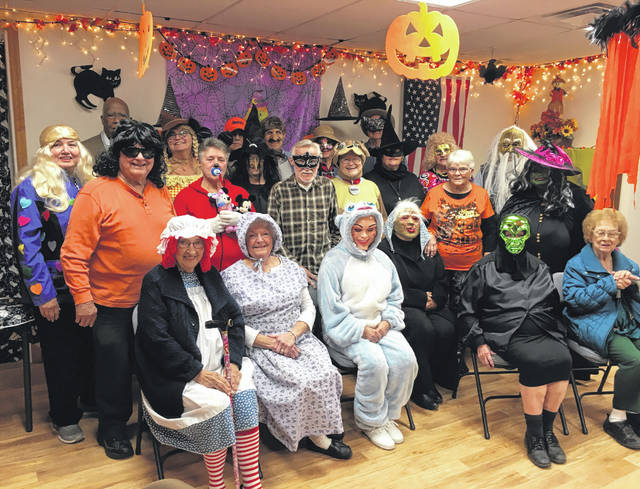 Photos courtesy GCCOA Twenty-seven seniors attended the Jamestown Senior Center Halloween Party Oct. 19. The event featured spooky treats and games including a spider scramble and a pumpkin walk. Seniors won prizes for the scariest, funniest, best and most original costume.