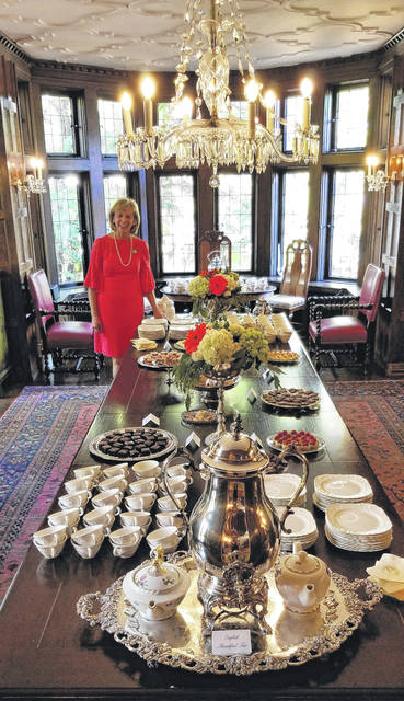 Fran DeWine readies tea at the Governor's Residence.