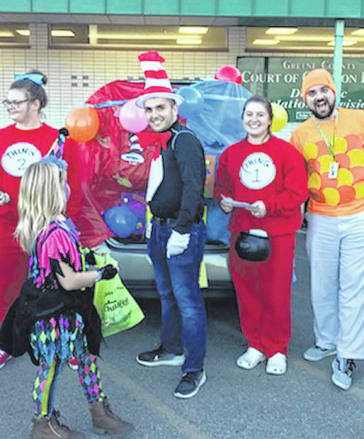 Photo courtesy GCCS Kids trick or treat at the annual Children Services Halloween event in 2018.