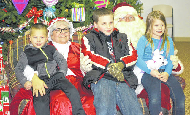 File photo Santa and Mrs. Claus return to Xenia for Hometown Christmas Saturday, Nov. 23.