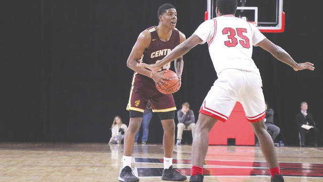 Central State University freshman Darweshi Hunter led the Marauders in scoring with a game-high 20 points in a Dec. 19 loss to Morehouse College, in Atlanta.