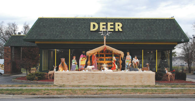 Whitney Vickers | Greene County News Deer Heating and Cooling has set-up its annual nativity scene in front of the business. The company sets up the nativity scene every year in the spirit of the holiday season.
