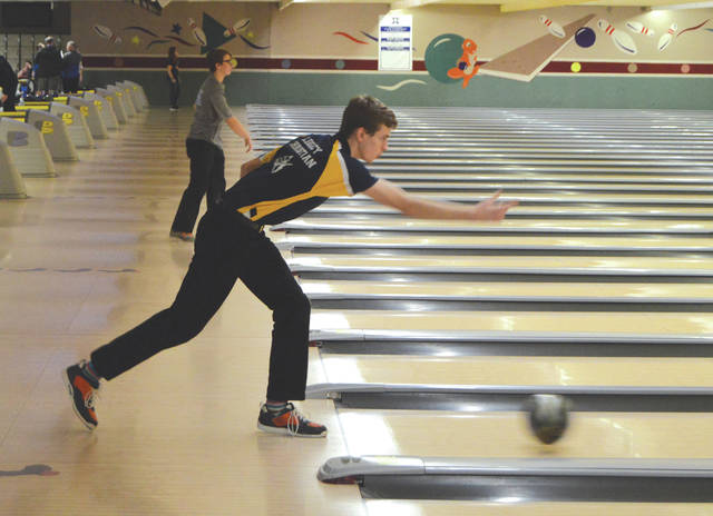 Legacy Christian Academy senior Jackson Ewing turned in the high two-game series of 383 in the Knights' win over host Yellow Springs, Jan. 16, at Beaver-Vu Lanes in Beavercreek.