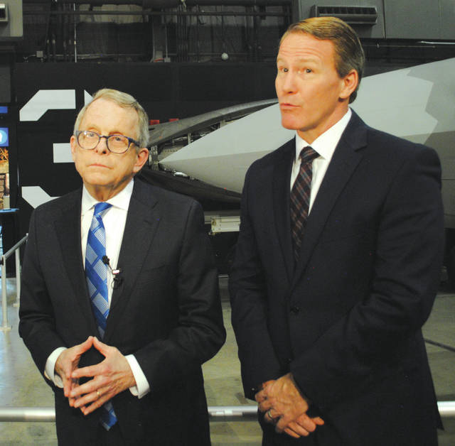 Ohio Governor Mike DeWine and Lieutenant Governor Jon Husted.