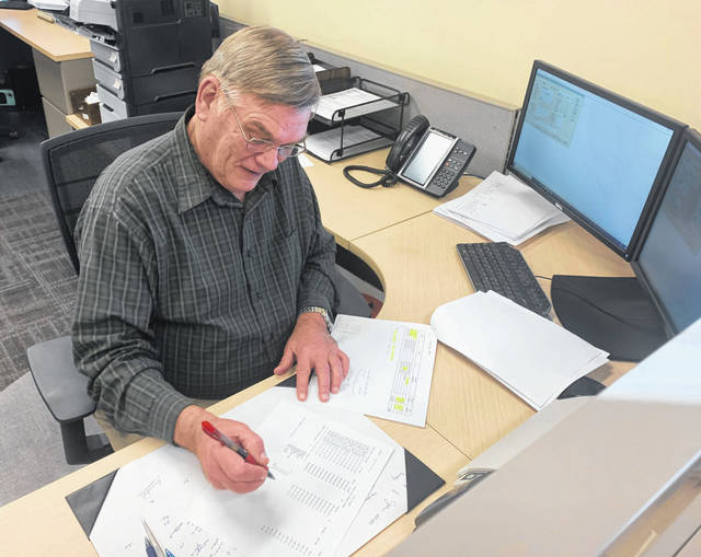 Photo courtesy City of Xenia City finance clerk Dennis Evans retired after 23 years. His knowledge and experience in utility billing and income tax played a vital role in the day-to-day operations of the department, according to city officials.