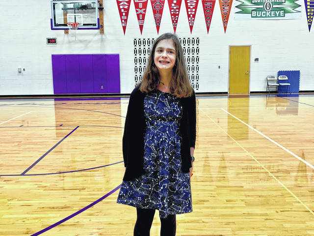 Photo courtesy Bellbrook-Sugarcreek Schools Dasha Crocker earned 39.5 points and finished second among high school students.