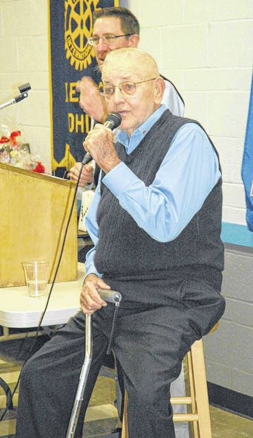 File Photo Keith Sheridan auctioned off a few items at the annual Rotary Christmas party a couple years ago.