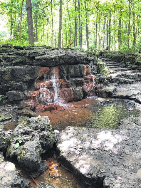 Anna Bolton | Greene County News The springs inside Glen Helen, pictured in 2018, hasn't seen visitors since the nature preserve's closure in March due to the COVID-19 pandemic.