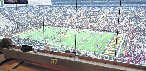 Photos by Jim Naveau Michigan Stadium from the press box. It's No. 4 on Jim Naveau's list of great stadiums in which Ohio State has played.