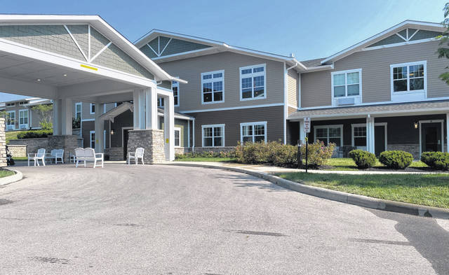 Photos by Scott Halasz | Greene County News The main building at the Traditions of Beavercreek offers independent, assisted and memory care living, along with a restaurant, pub and other amenities.