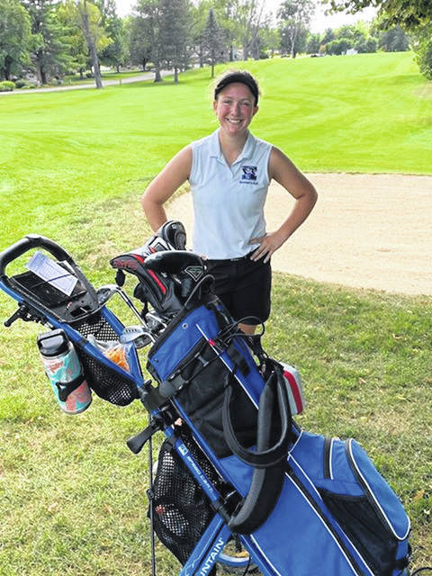 Photo courtesy Bryan Mardis Xenia junior Brynna Mardis shot a personal-best and school-record two under par 34 on the back nine at WGC Golf Course in a season-opening win over West Carrollton.