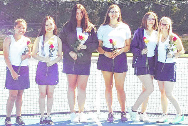 Submitted photo The Fairborn girls tennis team topped West Carrollton 5-0 on senior night.