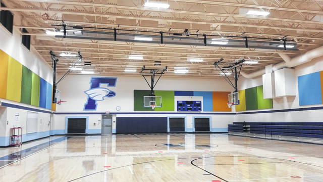 The gymnasium at Fairborn Primary doubles as a storm shelter.