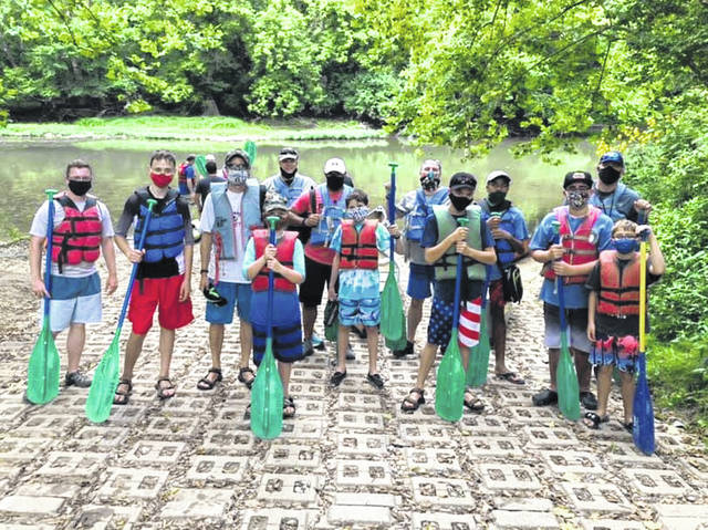 Submitted photos  Scout Troop 162 takes a Little Miami canoe trip on Aug. 15.