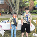 Scouts in Troop 162 prepared for the fall