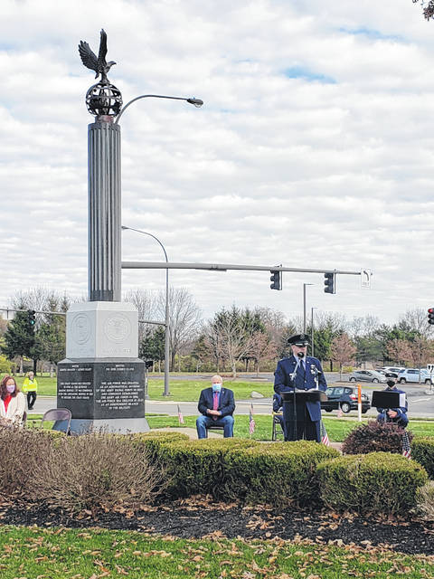 Beavercreek's ceremony took place at Veterans Memorial Park on North Fairfield Road.