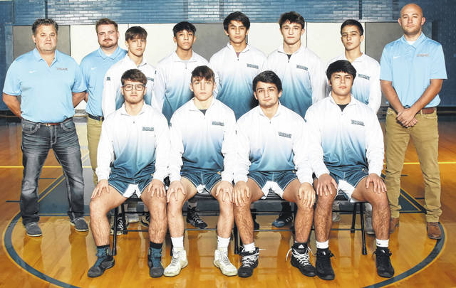 Submitted photo The Legacy Christian Academy wrestling team beat four state-ranked wrestlers in a pair of dual meet victories Wednesday.