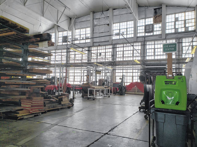 The restoration hangar includes everything necessary to restore historic airplanes, including a machine shop, a woodworking shop, and welding station.