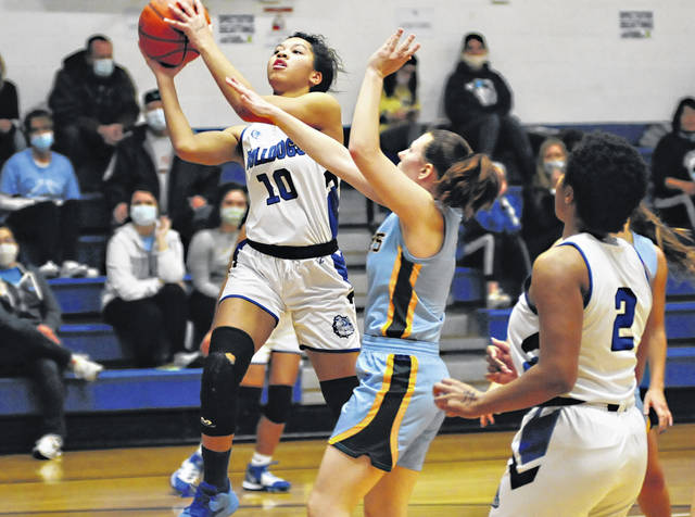 File photos Yellow Springs junior Angie Smith, shown against Legacy Christian Academy earlier this season, was a first team All-Metro Buckeye Conference selection.