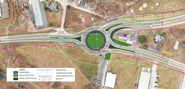 The first and preferred option for the proposed improvement project is a roundabout centered on the intersection of SR 235 and US 68. The public comment period for this project closes March 13.