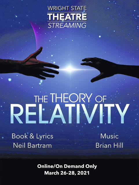 The poster for Wright State University's production, Theory of Relativity.