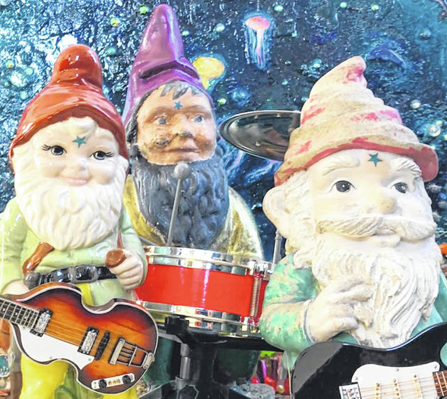 Musical garden gnomes star in a new music video by Yellow Springs music and arts collective Toadstool Shadow
