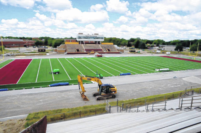 Photos courtesy Terry Flucas Central State University's McPherson Memorial Stadium is receiving a new turf field and accompanying track.