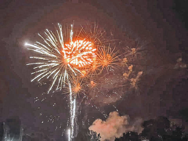 Photos courtesy of Kaitlin Michael Fireworks light up the night sky at Xenia's Kevin Sonnycalb Memorial Fireworks Festival at Shawnee Park.
