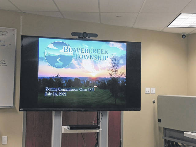 Darryl McGee | Greene County News Beavercreek Township Trustees held a public hearing to discuss the latest information concerning Beavercreek Township Zoning Commission's Case #821.