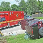 Two transported from U.S. 50 crash