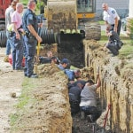 Worker in trench collapse still critical