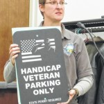 Village gets vets parking sign