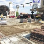 Brick pavers removed from uptown intersection