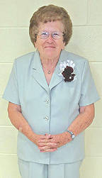 Representing the Buckskin 70th year class – 1947 – is Romaine Schiller Smith.