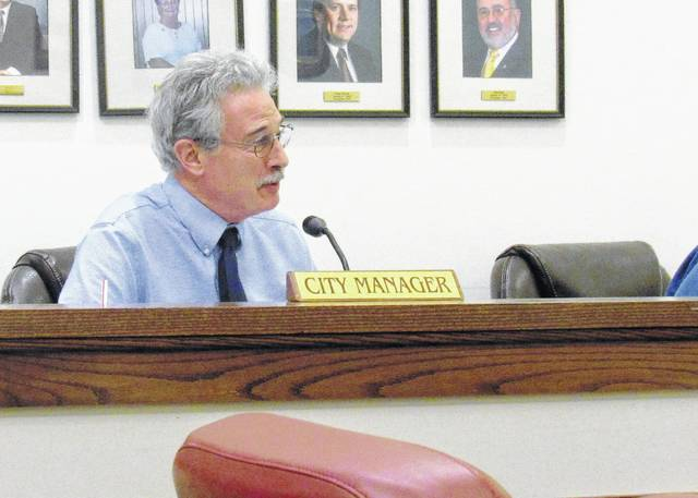 Greenfield City Manager Ron Coffey, shown at a previous meeting of village council, said this week that the Greenfield industrial park could be a step closer to site certification.
