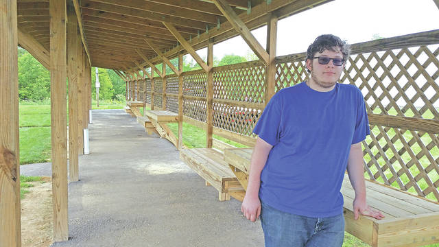 Clayton Snavely is pictured at the Fallsville Wildlife Area Archery Range where he recently made improvements as part of an Eagle Scout project.