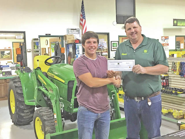 Five Points Implement Co., Inc. and John Deere would like to congratulate Mat Kyle Barton on winning the 2016-17 National FFA/John Deere Scholarship Program. A total of 1,883 scholarships were awarded through the National FFA Organization's scholarship program this year. Currently, 115 sponsors contribute more than $2.7 million to support the scholarship for students. Five Points Implement is honored to join with John Deere and the FFA to further the education of students in the agricultural industry. Barton was selected from 8,337 applications from across the country. Selections were based on the applicant's leadership, academic record, FFA and other school and community activities, supervised agricultural or work experience in agricultural education and future goals. Barton is a 2017 graduate of McClain High School and will be attending Morehead State University majoring in agronomy and crop science.