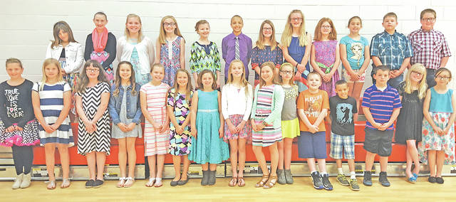Several Fairfield Elementary fourth graders in Mrs. Hooper's class will have their poem published in the Young American Poetry Digest. The 28 student poems were chosen by a panel of educators out of all poems submitted nationwide. The panel looked for creativity, structure, and poetic techniques. Pictured are the students that will have their poem published (back row) Hailey Baldwin, Cheyenne Byler, Aylah Humphreys, Claire Newkirk, Hannah Hamilton, Logan McIntosh, Allie Pavey, Makayla Brown, Emily Haines, Emma Cowan, Chase Hicks and Cameron Bales (front row) Emmy Caudill, Jobey Hattan, Ally Gragg, Jadi Howland, Kailey Pfister, Isabelle Brunck, Trinity Ferrell, Mya Hamilton, Carly Sanders, Sarah Shoemaker, Maison Kier, DeShawn Rickman, Carson Jenkins, Jayden Howard and Britney Cartwright. Not pictured is Grace Pelfrey.